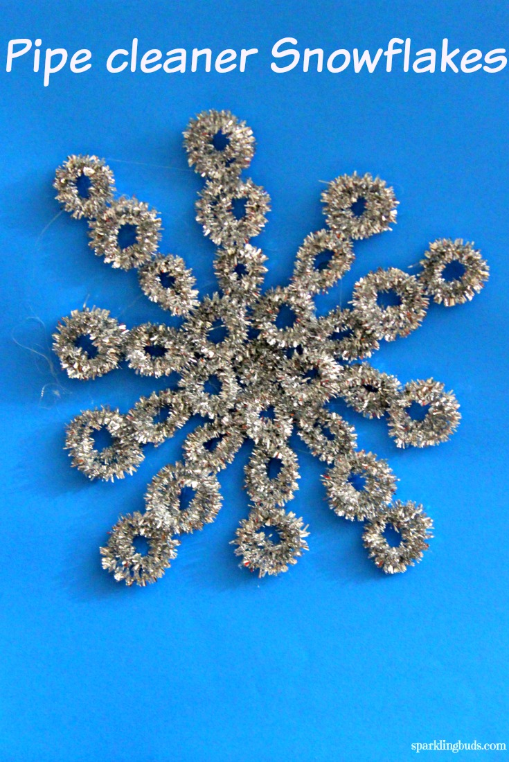 sc 1 st  sparklingbuds & Pipe cleaner snowflake