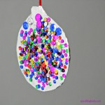 Sparkly Christmas Ornament for Kids to make