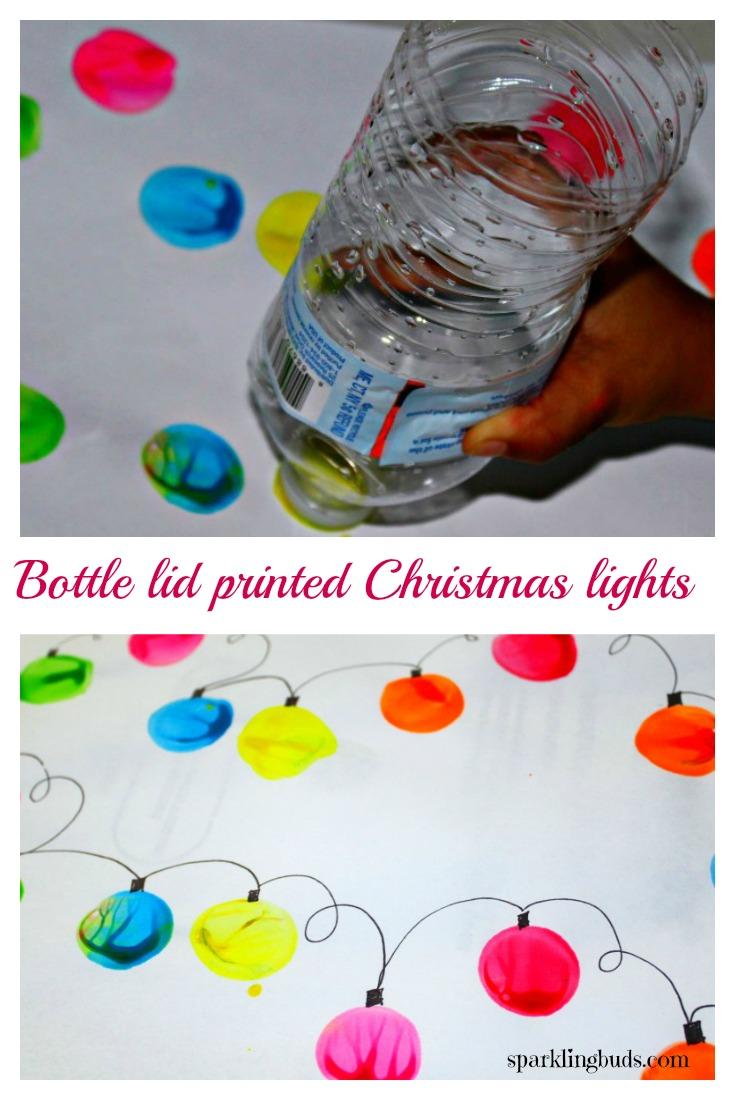 Christmas Light Painting By Preschooler Preschooler Painting
