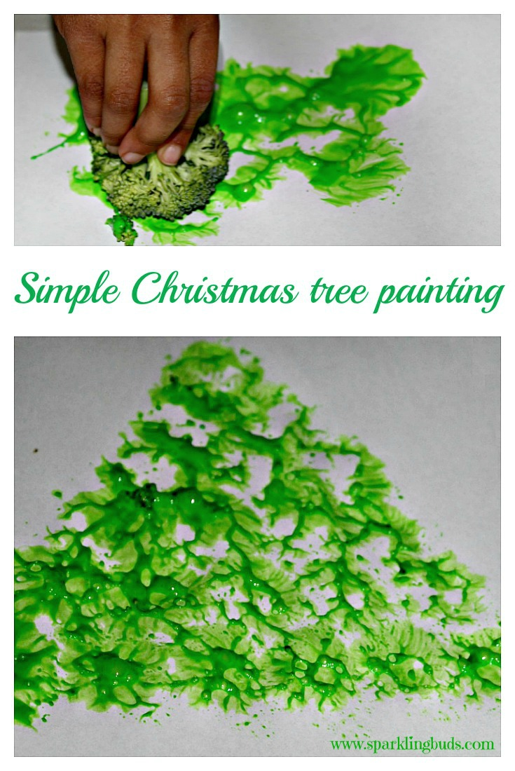 Simple Christmas tree painting