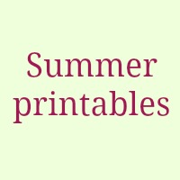 Summer Free Printables