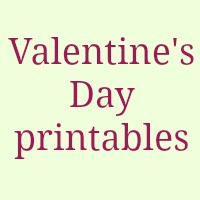 Valentines day free printables