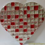 Aluminium foil stained glass heart Valentines day craft ideas