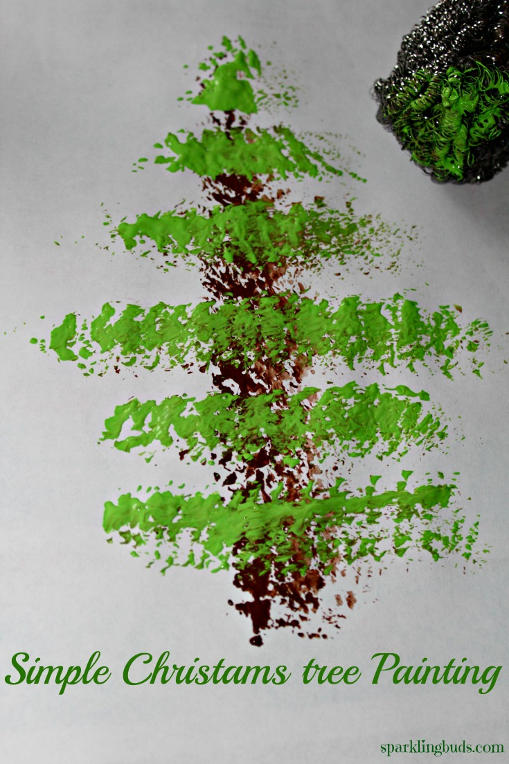 simple christmas craft - How To Paint A Christmas Tree