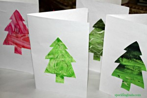 Christmas card ideas for preschool
