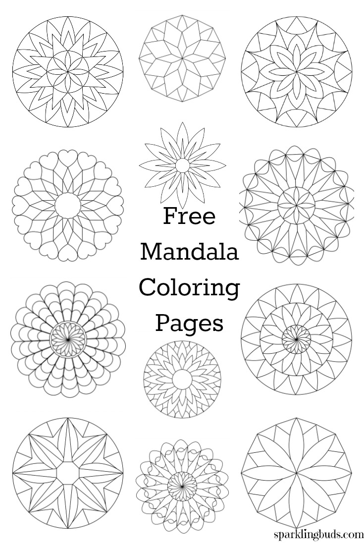 Mandala Coloring Pages Happy 50t Mandala Best Free
