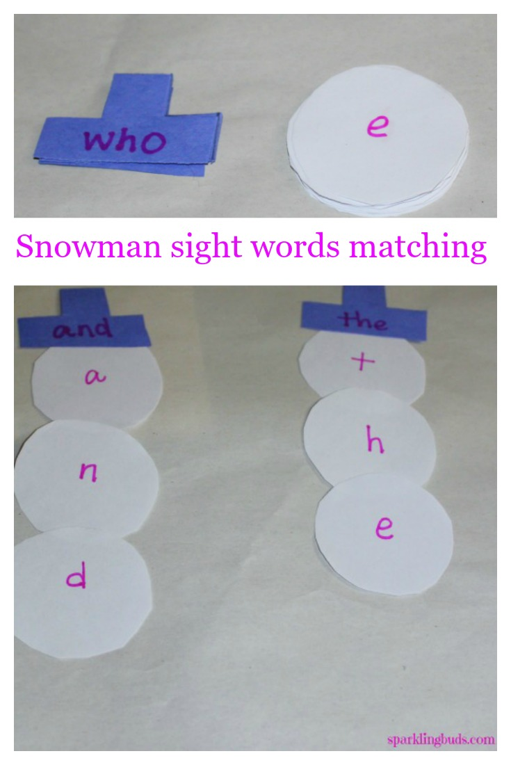 Winter learning game for preschoolers