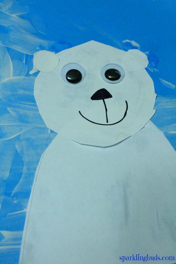polar bear craft for preschool simple polar bear craft