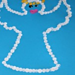 Simple Christmas arts and crafts : Angel painting