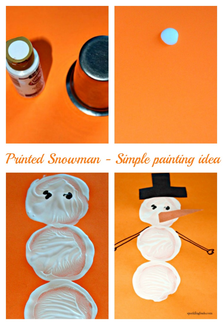 Snowman Crafts For Kids Painting Preschool