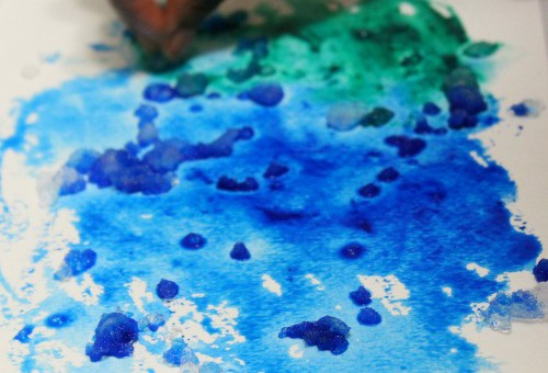 Snow painting ideas for kids