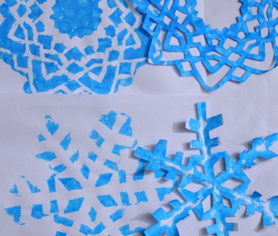 Snowflakes Christmas decorations for kids