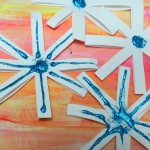 Snowflake crafts for kids : Paper snowflakes