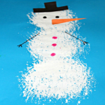 Snowman painting – Winter craft idea