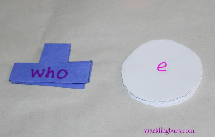 Snowman sight words learning activity