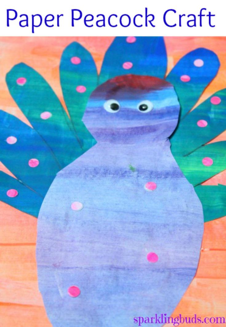 Peacock Craft For Preschool Sparklingbuds