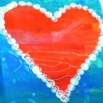 Kids Valentine Crafts : Contract heart painting