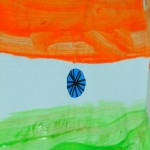 Indian Republic day crafts for kids – Flag painting