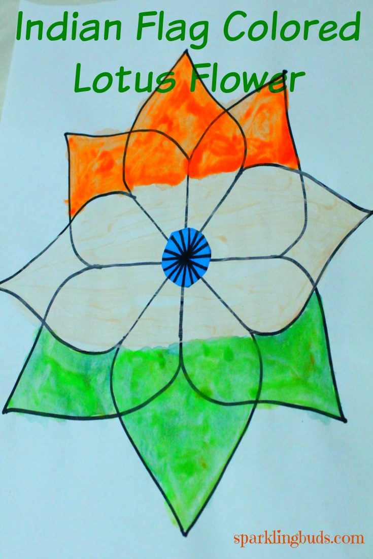Indian Flag Painting Ideas Lotus Flower Drawing Sparklingbuds