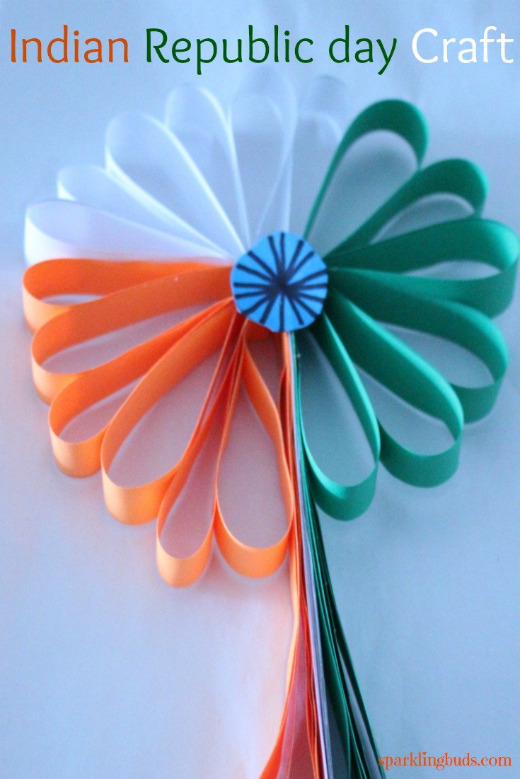 Indian republic day crafts tricolor paper flower sparklingbuds indian republic day art and crafts jeuxipadfo Gallery
