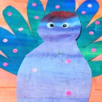 Peacock craft for preschool