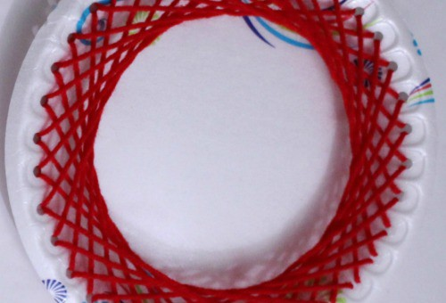 paper plate lacing