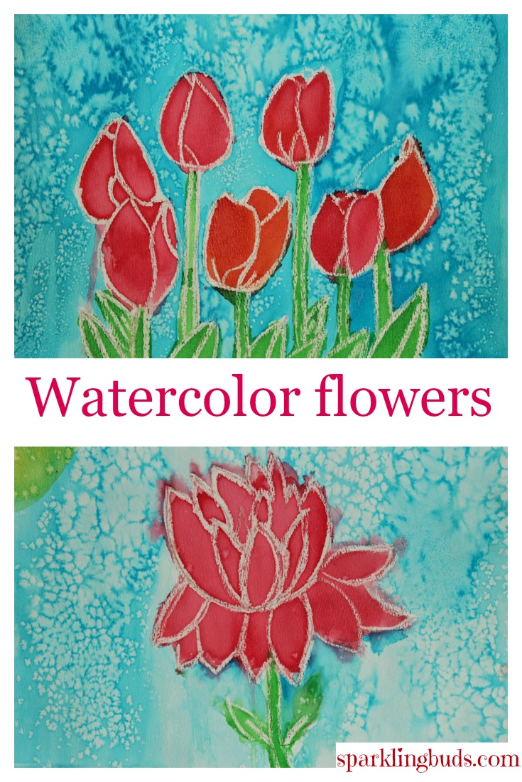 Simple Watercolor Flowers Tutorial