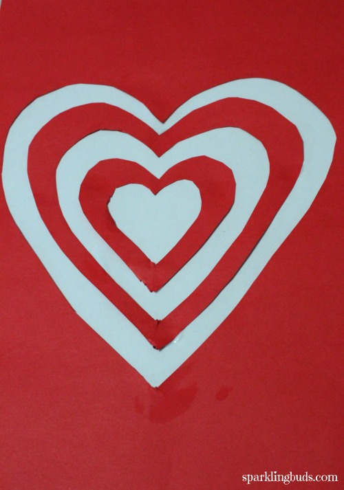 Valentines day activities : Cut and paste art - sparklingbuds
