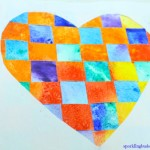 Paper weaving : Valentine heart weaving