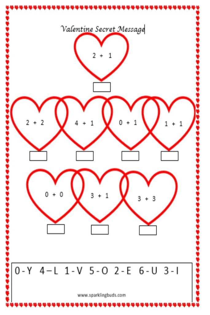 Valentineu0027s Day Math Activity