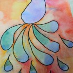 Easy watercolor idea for kids