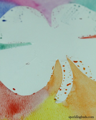 Contact paper watercolor project ideas