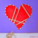 Valentines day fine motor activity : Geoboard heart