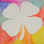Watercolor techniques : Positive and Negative Shamrocks
