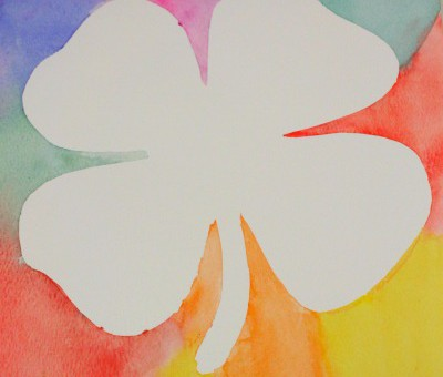 Shamrock painting ideas for kids