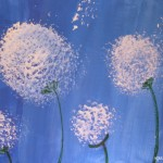 Painting dandelions – Simple acrylic paint idea