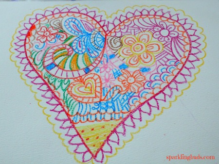 Simple heart doodling fun