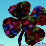 Simple tissue paper suncatcher : Shamrock
