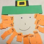 Leprechaun craft : Sight words matching