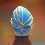 Preschool rubber band activities : Easter egg