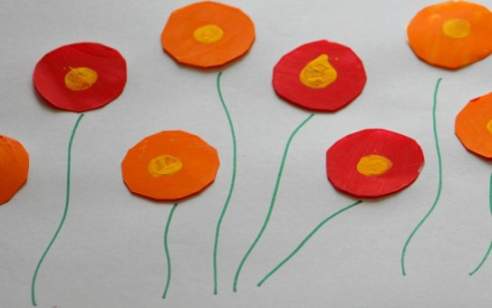 Poppy flowers painting ideas for kids