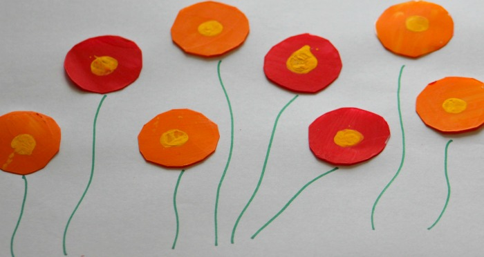Simple flower painting ideas poppy flowers sparklingbuds poppy flowers painting ideas for kids mightylinksfo Image collections