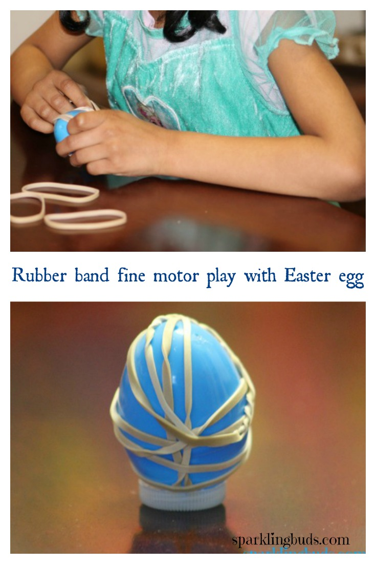 Preschool rubber band activities