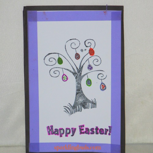 Stamped card making ideas for Easter