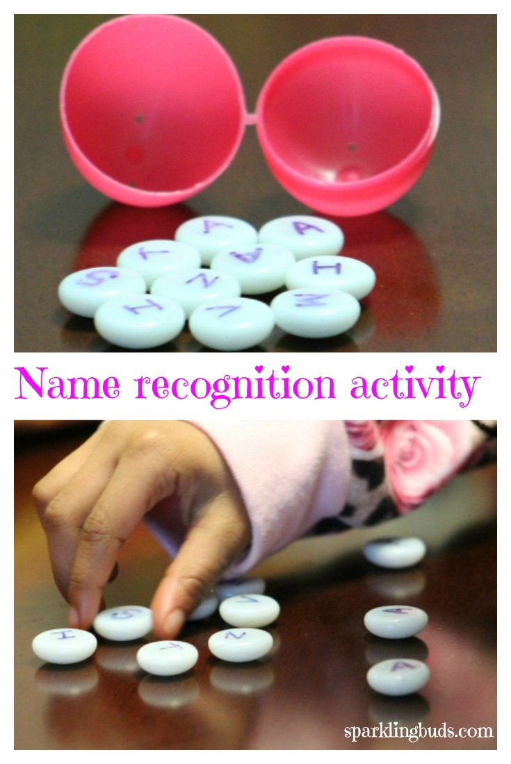 Teach name recognition activity for preschoolers