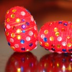 Easter egg decorating ideas : Yarn wrapped eggs