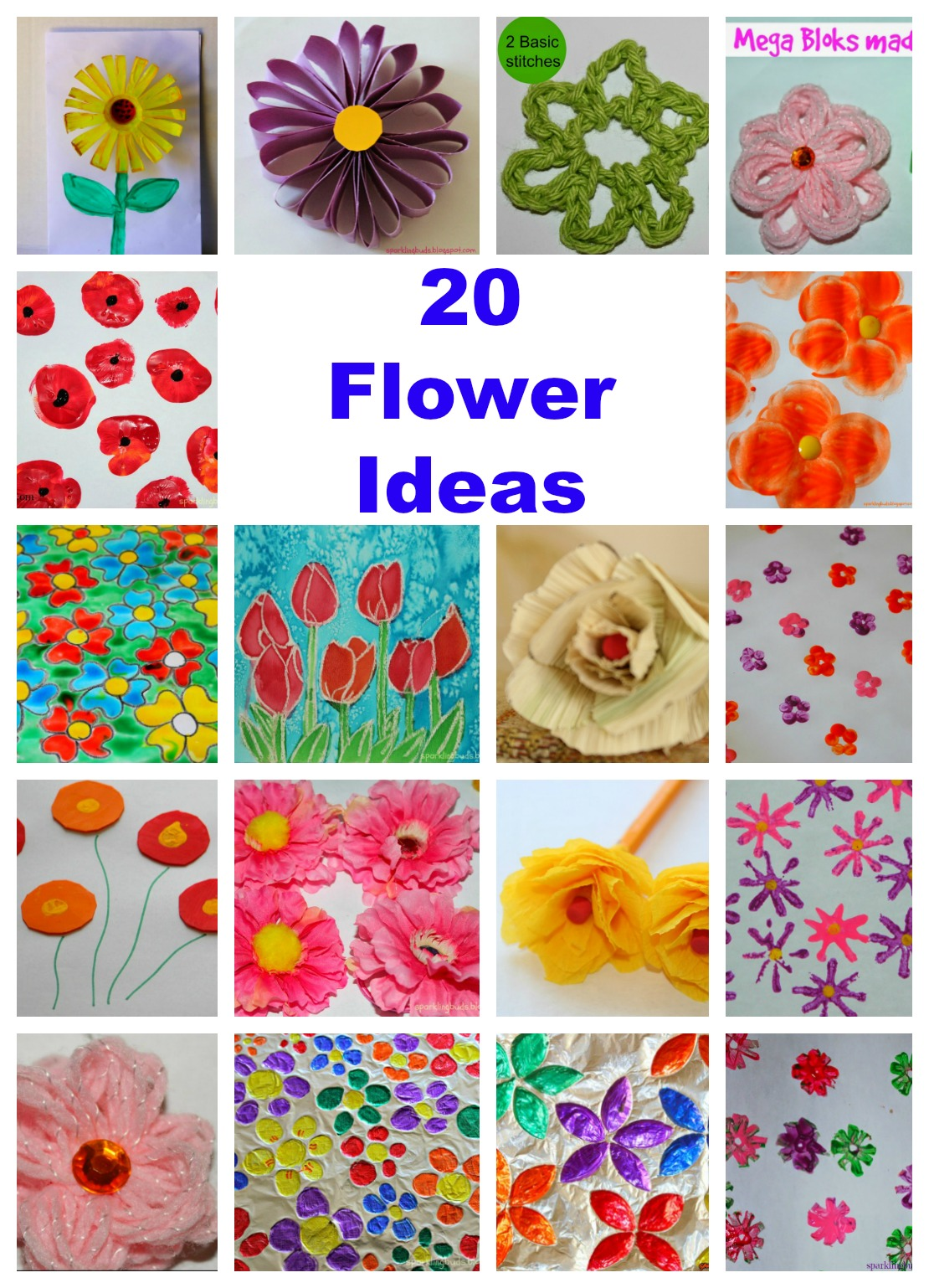 Beautiful Simple Art And Craft Ideas For Kids Part - 12: 20 Flower Crafts Ideas For Kids