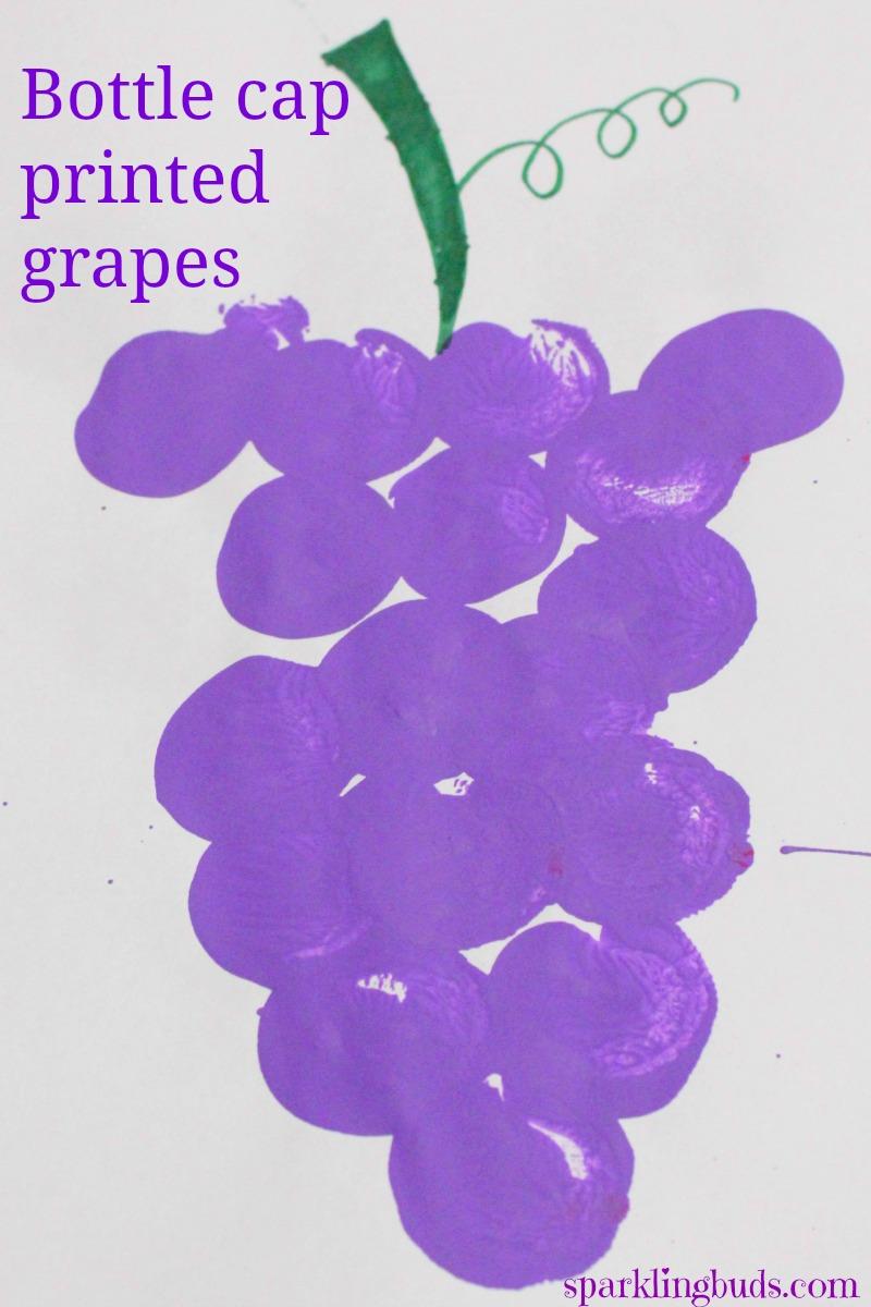 Easy Fruit Painting Grape Sparklingbuds