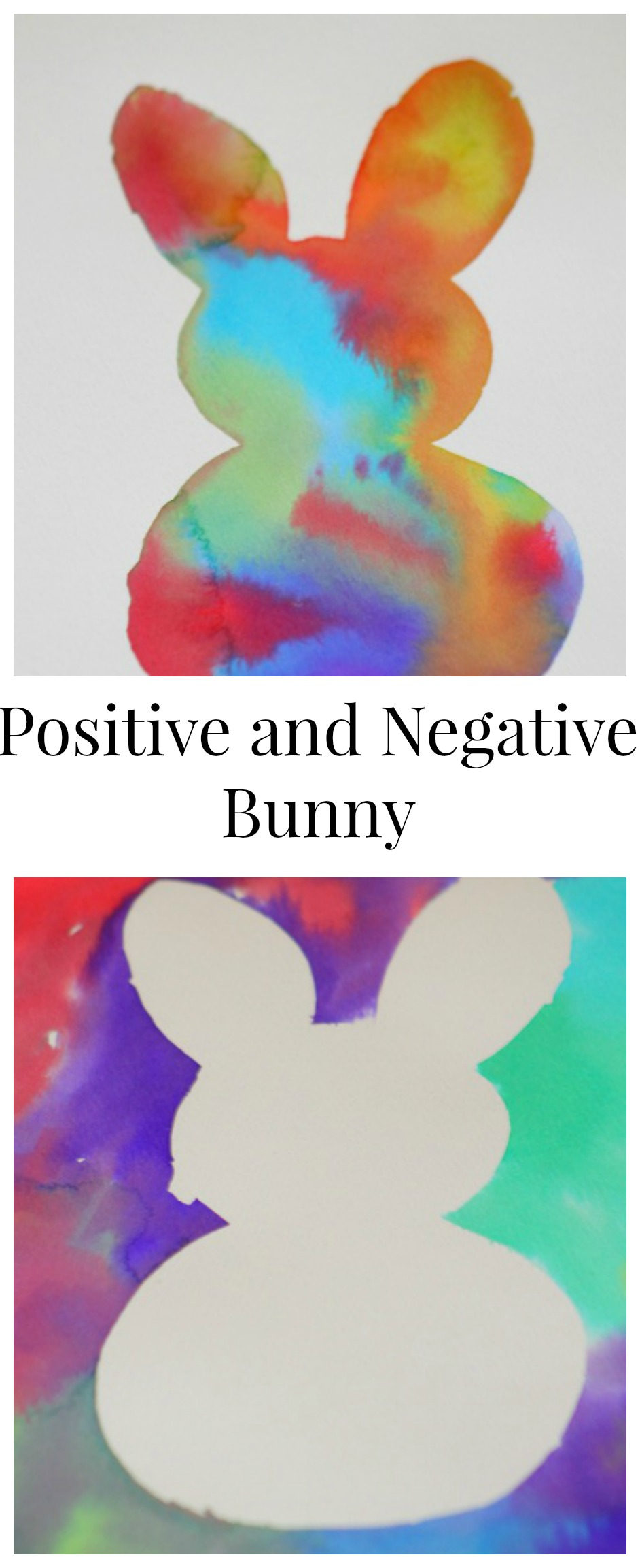 Positive and negative art ideas for kids