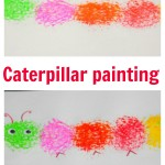 Simple painting idea – Caterpillar painting